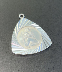 Sterling Silver St Christopher Pendant Charm Ladies Gents