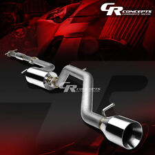"4.5"" MUFFLER ROLLED TIP CATBACK RACING EXHAUST SYSTEM FOR 00-04 FORD FOCUS ZX3/5"