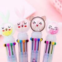 10 In 1 Multi-color Cartoon Rabbit Ballpoint Pen Office Creative Stationery