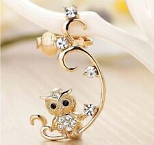 Rhinestone Alloy Cuff Round Costume Earrings