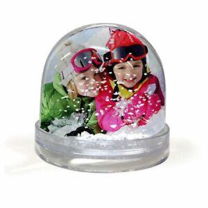 Personalised Photo Snow Globe Dome Glitter Shaker Ornament
