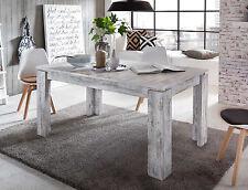 Esstisch Esszimmer Tisch weiß Pinie Holz in Shabby ausziehbar 160 200 cm Vintage