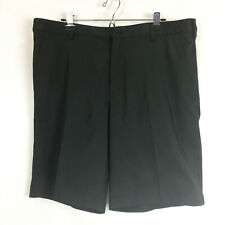 """Nike Golf Mens Size 38 Shorts Black Fit Dry Flat Front 11"""" Inseam"""