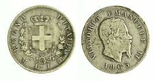 pcc1815_6) Regno Vittorio Emanuele II - 1 lira stemma 1863 Mi