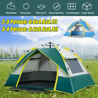 2-4 Person Fully Automatic Open Instant Tent Family Camping Rainproof