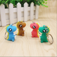 4Pcs/Set 3D Cute Cartoon Dinosaur Key Chain Women Handbag Charm Pendant Keyring