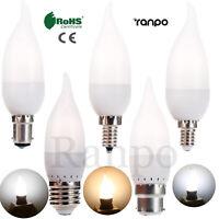 LED Bulb 3W E12 E26 E27 E14 B22 Flame Chandelier Candle Light 2835 SMD 110V 220V