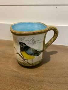 Susan Winget Mug Bird Theme Yellow Songbird Coffee Tea Mug