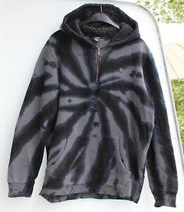 Neff Hoodie Sweatshirt Pullover Kapuze Jogging Größe XL grau schwarz