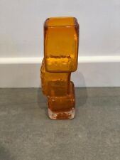 Whitefriars Tangerine 'Drunken Bricklayer' Vase c1970