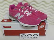 New Balance 990v4 - KJ990PEG - Hot Pink / Grey / White - Youth 4.5 = Women's 6