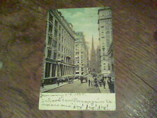 1908 New York Wall Street sent to F. A. Roberts Farmdale OH s1