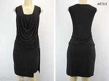 RONNI NICOLE $99 Sexy Black Cowl Blouson Lace Jersey Dress 8 QCO