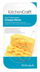 KITCHENCRAFT Pk 3 Replacement Stainless Steel Cheese Wires for Cheese Plane.