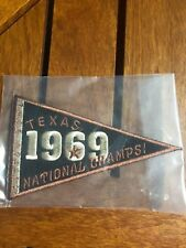 "1969 TEXAS NATIONAL CHAMPS COTTON BOWL SEW ON PATCH 5"" X 3"""