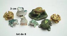 lot de 8 figurines grenouilles, bibelot, collection,frog, kikker  Gtp14-13