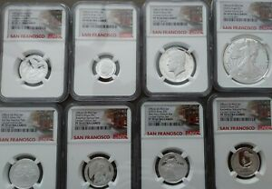 2020S Limited Edition Silver NGC PF70 Proof Ultra Cam Trolley Label 8 coin set