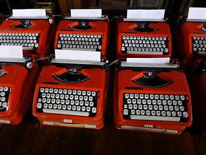 lot of 10 vintage hermes baby rocket typewriter manual portable case working