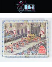 VINTAGE Queen Elizabeth II's Coronation in '53 Wooden Jigsaw Puzzle (Aus Seller)