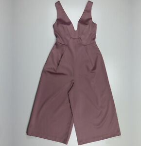 Asos Pink Wide Leg Sleeveless Jumpsuits Playsuits Size 10