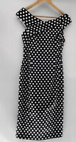 VERY VERY Black & White Polka Dot Pencil Midi Dress Size 8