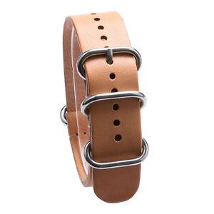 18/20/22mm Leather Watch Band Wrist Strap Men Women Black Khaki Brown Bracelet