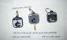 Vancouver Canucks  NHL HOCKEY OFFICIAL KEY CHAIN SET OF 3