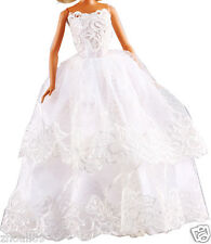 Hot Handwork soft Princess Party Dress/Evening Clothes/Gown For Barbie Doll  104