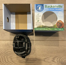 Baskerville 10-Inch Rubber Ultra Muzzle Size 4 Black Free Shipping! (H)