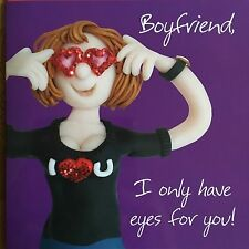 Boyfriend... I Only Have Eyes For You - Greeting Card