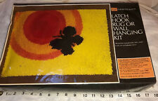 New Vintage Vogart Latch Hook rug kit 20 x27 Craft Retro Abstract Butterfly Sun