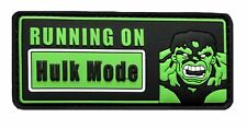 Running on Hulk mode 3D PVC Rubber Morale Hook Patch