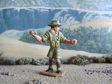 Lone Star  World war 2 Australian soldier throwing grenade 1:32 painted