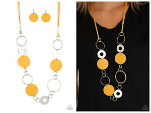 NWT! Paparazzi ~ Sooner or Leather ~ Yellow Necklace