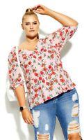 New with Tags CITY CHIC Floral Botanica Top - size 16 - size S - RRP $79.95