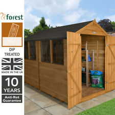 Forest 10x8 DIP Treated Apex Garden Workshop Shed Outdoor Storage 10ft 8ft