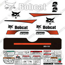 Bobcat S570 Compact Track Loader Decal Kit Skid Steer (Curved Stripes)