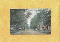 MA Whitman 1910 antique postcard HOMES ON WASHINGTON ST looking south Mass