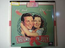 Christmas in July 1940 Laser Disc NEW Dick Powell - Ellen Drew Ernest Truex Mint