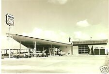 PHILLIPS 66 GAS FULL SERVICE STATION PUMPS MID 60's PONTIAC,FORD BUICK 5x7 pic