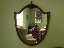 Antique Mahogany Shield Mirror -  Federal Style c. 1920