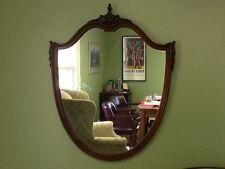 Antique Mahogany Shield Mirror -  Federal Style c. 1920
