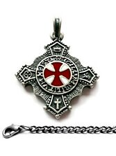 Templar Knights+ Chain As Pendant Amulet Vintage Jewelr