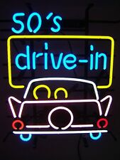 1950's American Style Retro Neon Diner Sign For Hanging Standing - 50s DRIVE IN