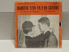 BO FILM Babette s en va t en guerre BRIGITTE BARDOT Disque souple MF2
