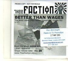 (DT147) Thee Faction, Better Than Wages - 2013 DJ CD