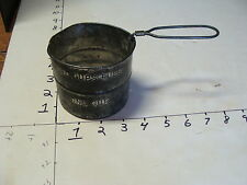 TWO CUPS EARLY TIN SIFTER, turn the handle to sift.