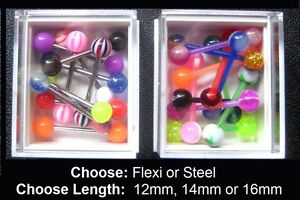Box Tongue Bars: Choose: Flexi or Steel, Quanity & Length: 10mm 12mm 14mm 16mm