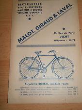 catalogue de bicyclettes,velos-moteur, voitures a pedale, malot,giraud et laval