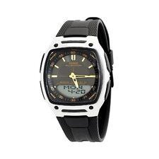 Casio AW-81-1A2V Men's Analog-Digital Black Dial Silicone Rubber Dress Watch